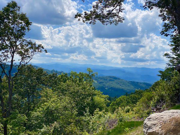 Layered Panoramic Mountain Views